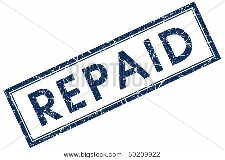 Repaid Blue Rectangle Stamp