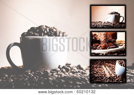 Collage (collection) Background Of Different Coffee Motives