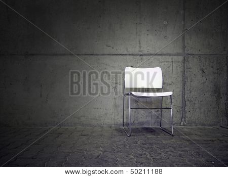 spot on white chair