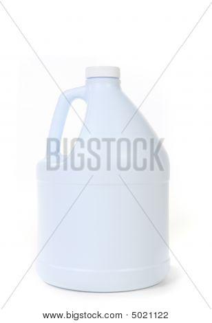 Blank White Bottle Of Bleach Isolated