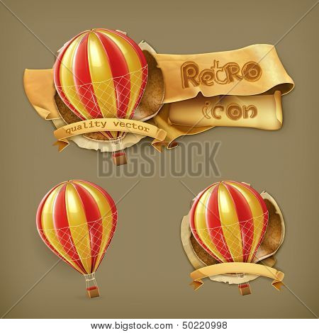 Air balloon, vector icon