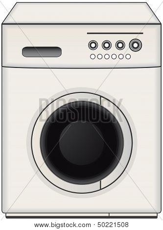 isolated washing machine
