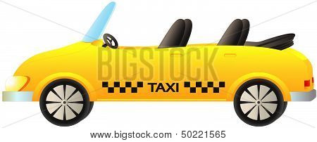isolated taxi car