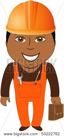 afro american worker - home master