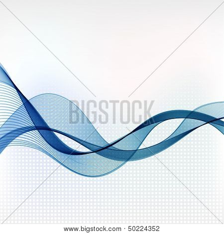 Abstract colorful vector template waved background