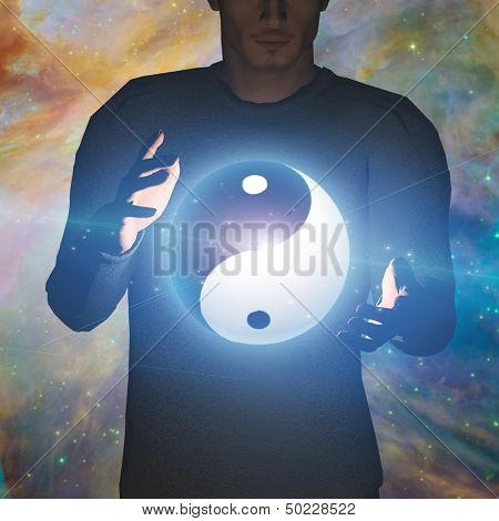 Yin Yang Star man some elements provided by NASA