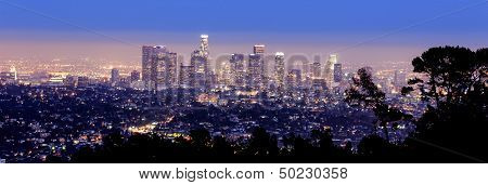 Los Angeles skyline panoramic