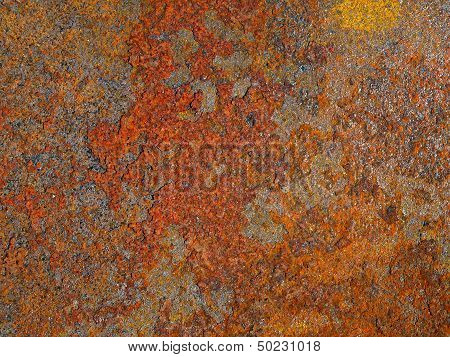 Oxidized, Rusted Metal