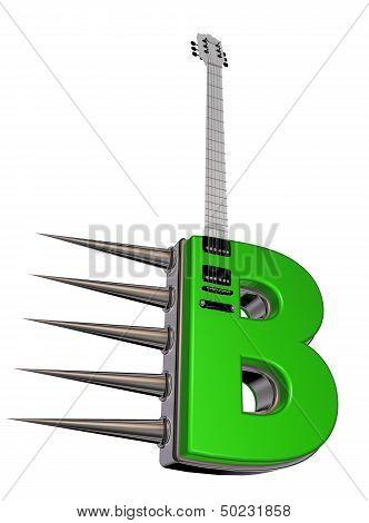 Letter B Guitar