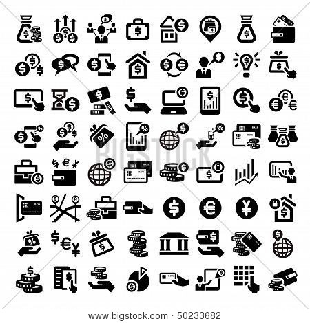 big finance icons set