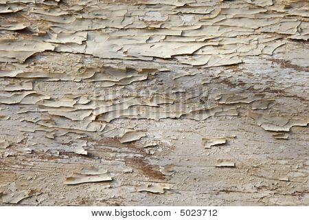 Crumbling Paint On Timber
