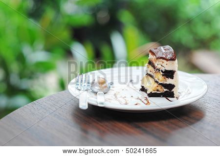 Little pice of chocolate cake