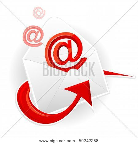 Symbol email and envelope