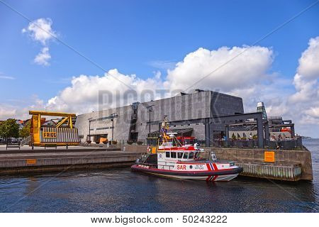 Sar Boat On The Port Of Stavanger, Norway.