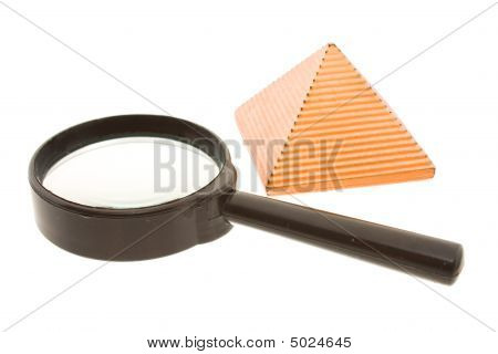 Magnifier And Pyramid