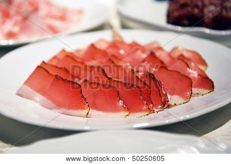 Speck Meat On A Plate