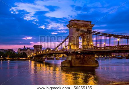 Szechenyi, Chain Bridge over the Danube river