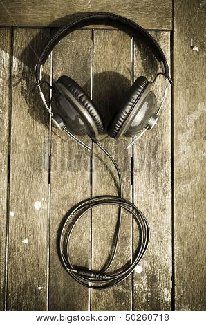 headphones on simple background