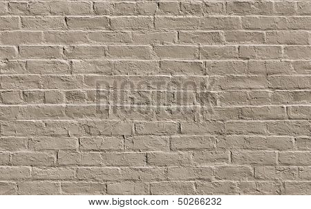 Beige Painted Brick Wall Seamlessly Tileable