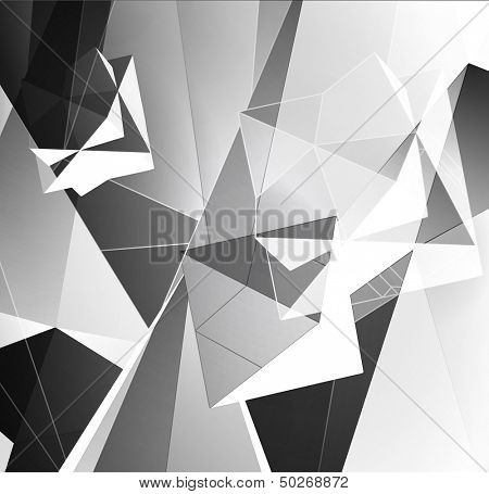 Greyscale Triangular Abstract Background