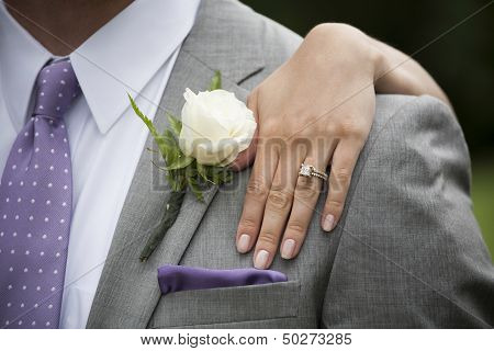 Groom and Bride's Hand