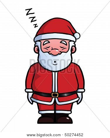 Santa Claus sleeping and snoring