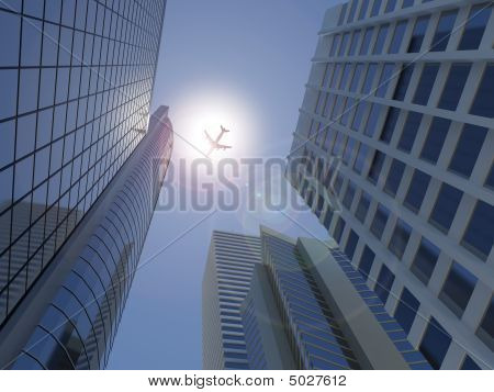 Modern High Rise Cityscape