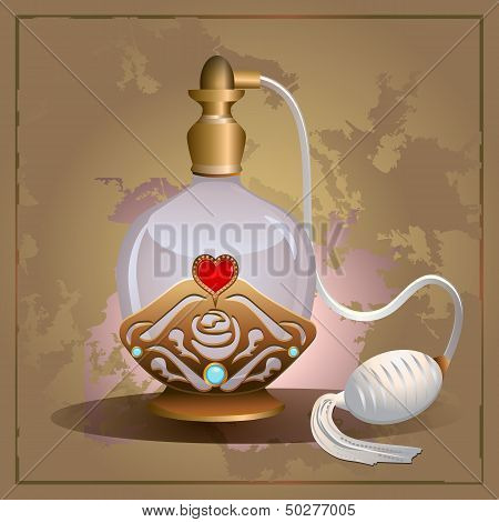Perfume heart bottle