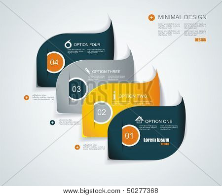 Modern Infographics Template Style. Can Be Used For Workflow Layout, Diagram, Number Options, Step U