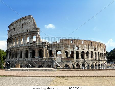 Colosseum Under A Blue Sky