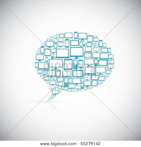 Speech bubble of modern computer icons