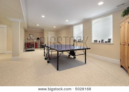 Basement With Ping Pong