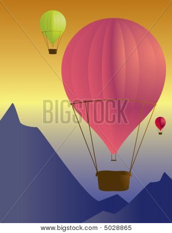 Hot Air Balloon Scene