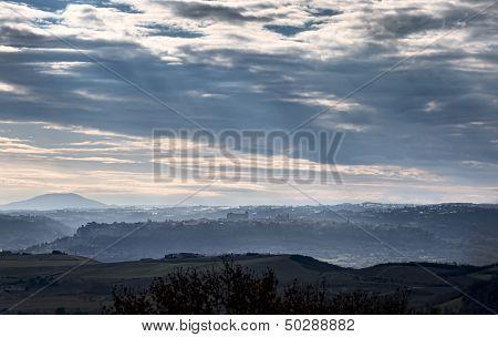 Panoramic View Of Orvieto, Umbria. Italy