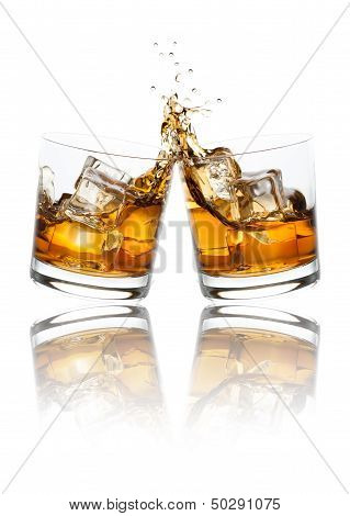 Toasting Whiskey Glasses
