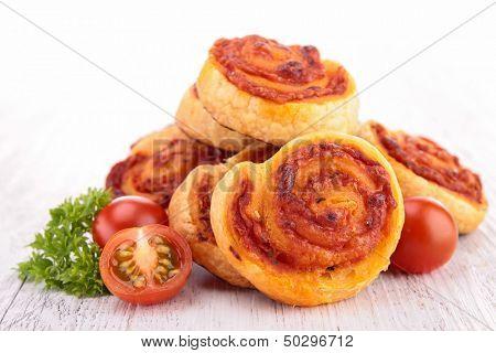 molinete de queso tomate