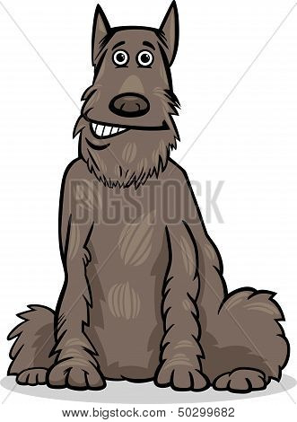 Schnauzer Dog Cartoon Illustration