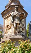 stock photo of leonardo da vinci  - Statue of Gian Giacomo Caprotti da Oreno  - JPG