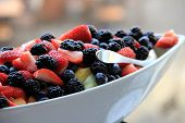 Simple white bowl with seasonal fruit