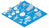 foto of blueprints  - Vector isometric infographic elements - JPG