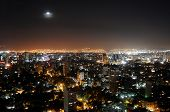 Mexico City Skyline At Night