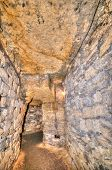 stock photo of catacombs  - interior Old Catacombs Odessa Ukraine  - JPG