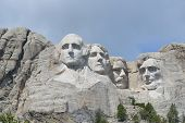 image of mount rushmore national memorial  - Mount Rushmore National Monument in South Dakota - JPG