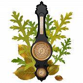 stock photo of barometer  - Autumn  illustration  - JPG