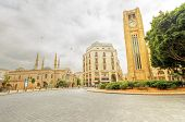 pic of greek-architecture  - A view of the clock tower in Nejme Square in Beirut Lebanon some local architecture of downtown Beirut the Mohammad Al - JPG