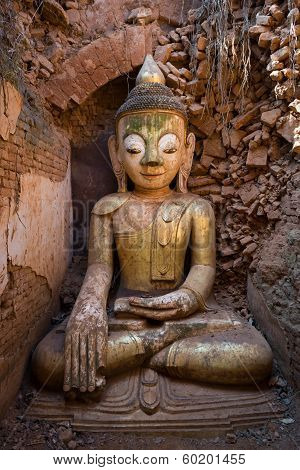 Buddha Image In Ancient Burmese Buddhist Pagodas