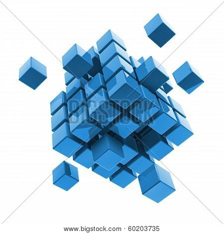 Business, Internet, Communication Concept Block