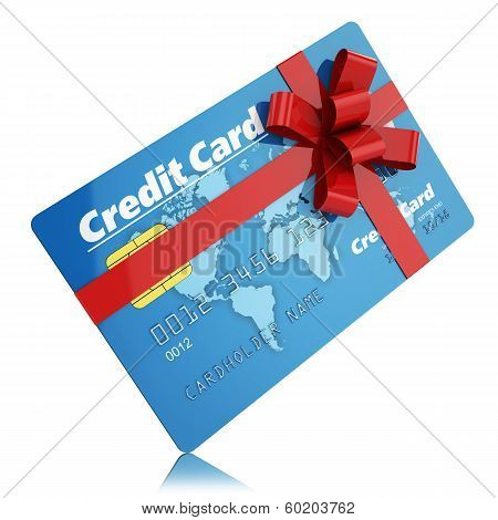 Gift Credit Card Isolated On White Background