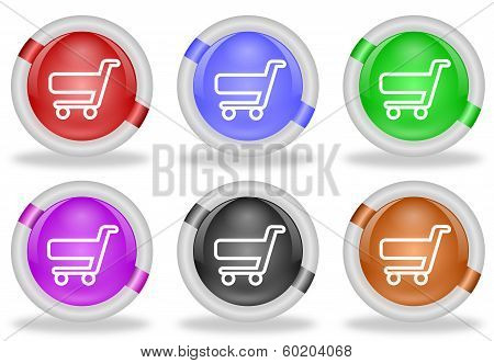 Shopping Cart Web Icon Buttons