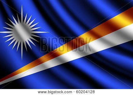 Waving flag of Marshall Islands